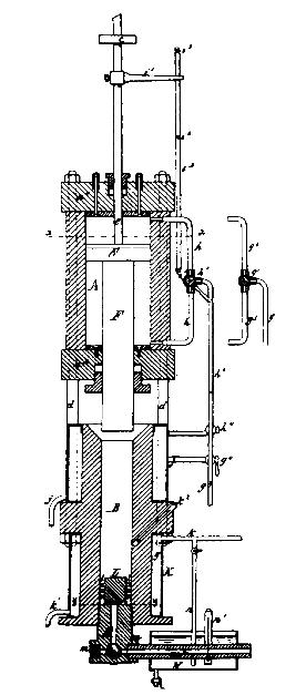 نقشه ثبت اختراع اولین دستگاه تزریق پلاستیک هیات مهندس آمریکایی